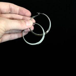 Lia Sophia silver hoop earrings